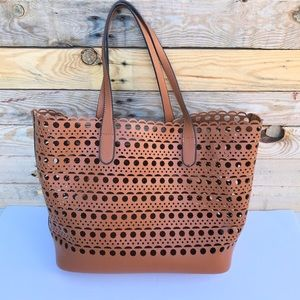 Women's guangtong bag beach bag laser cut tote bag
